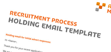 Holding Email Template