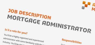Job Description Template - Mortgage Administrator