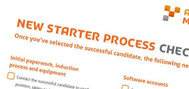New Starter Process Checklist